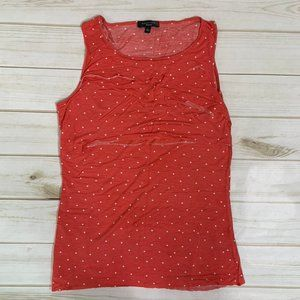 Pink coral tank with polka dots by Spense